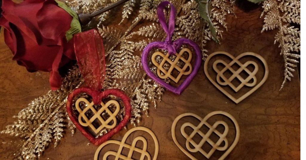 EP Laser Engraving Celtic Heart Ornament